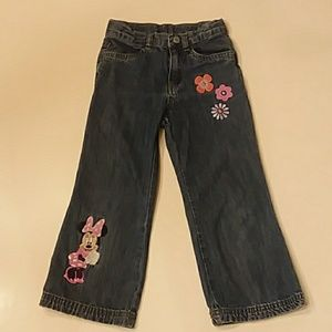 Disney Store 4T Minnie Mouse embroidered jeans